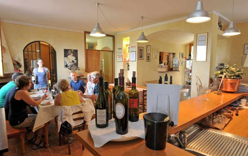Wine tasting at Farm Cesani