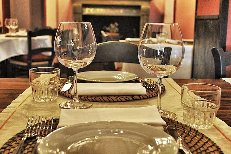 Sala da pranzo appartamento Frantoio