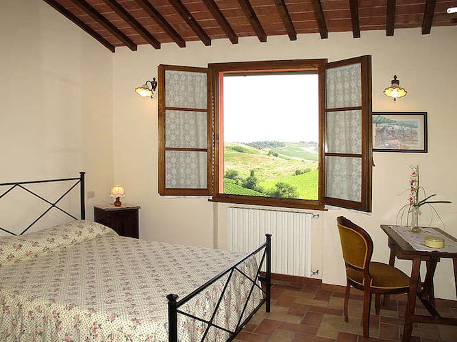 Wake up to the view of the green Tuscan hills and sounds of nature