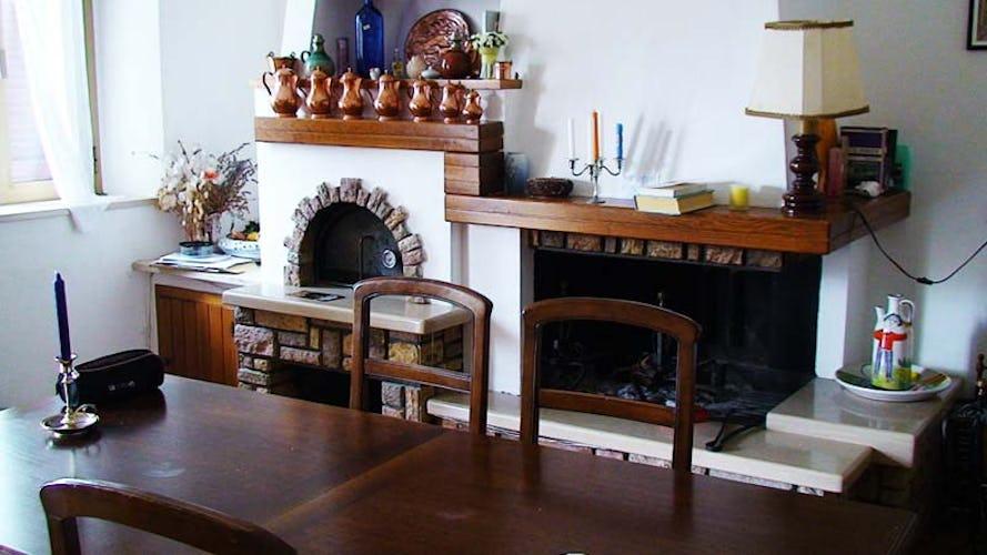 Casa della Vigna has a cozy fireplace