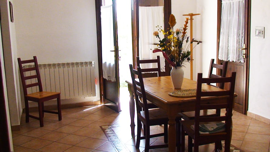 Each apartment is furnished in a simple country style