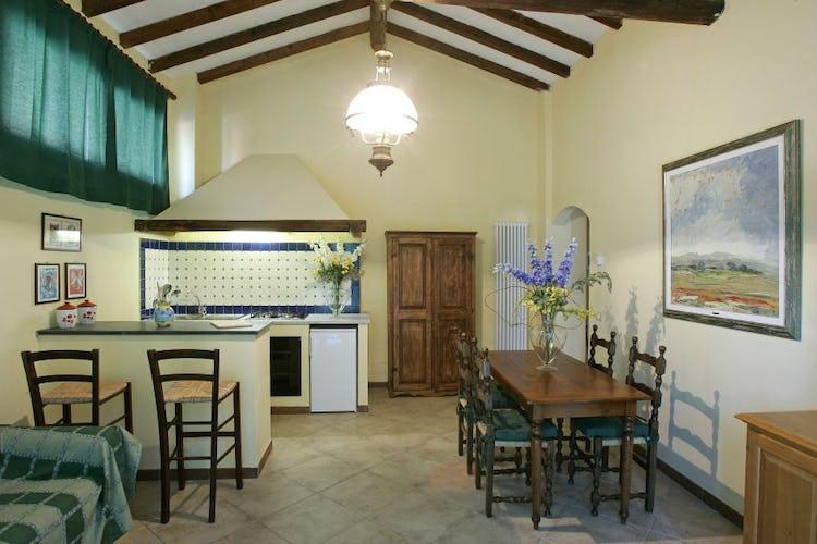 Area giorno con cucina attrezzata degli appartamenti self catering