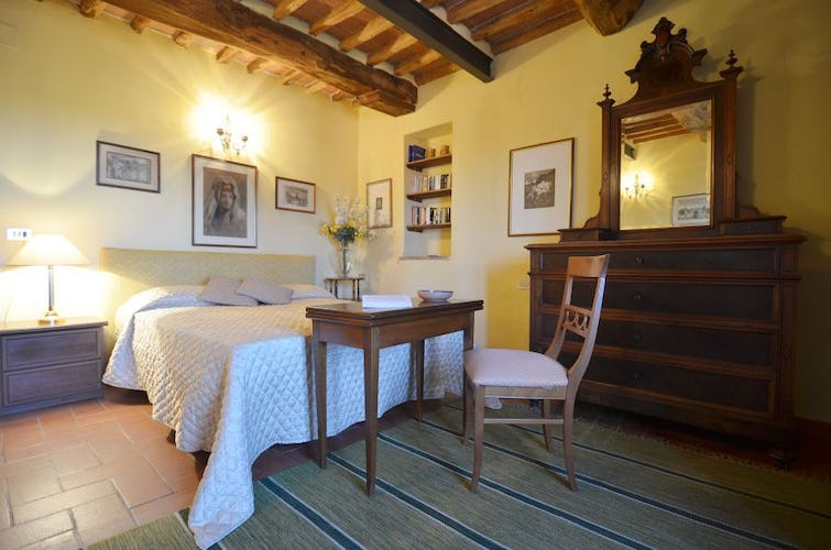 The ambiance is that of a traditional Tuscan farmhouse at Casa Rossa