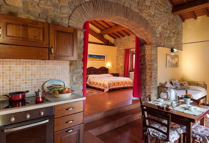 Agriturismo La Collina Delle Stelle - appartamenti per vacanze in tipico stile toscano, con pavimenti in terracotta e travi a vista