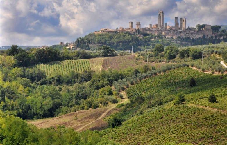 San Gimignano from  Lucciolaia Agriturismo