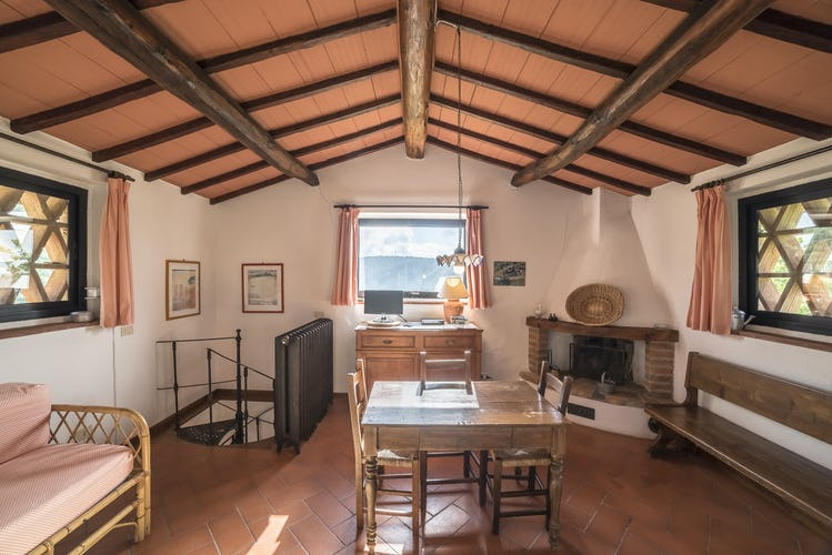 Agriturismo La Sala: Fienile is furnished with a fireplace