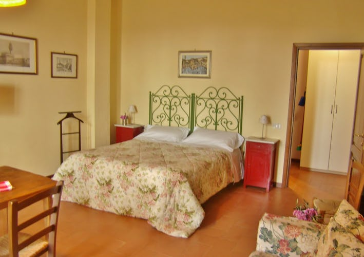 The bedroom in the Ginestra apartment