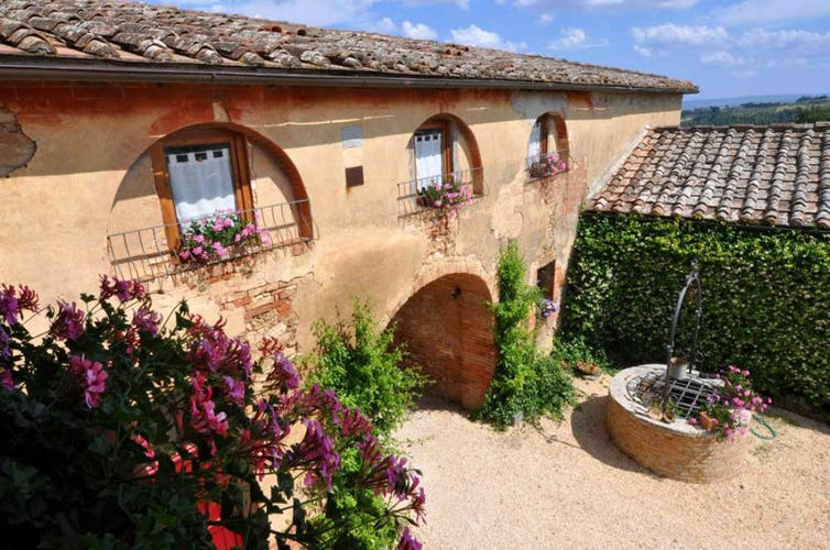The Agriturismo B&B was restructured to perserve its natural beauty