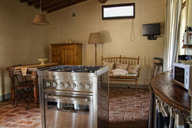 Typical Tuscan country kitchen