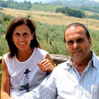Anna and Marco, the owners of Montalbino
