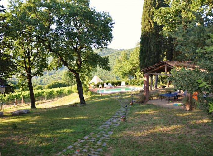 Relaxing at San Clemente Chianti Farmhouse