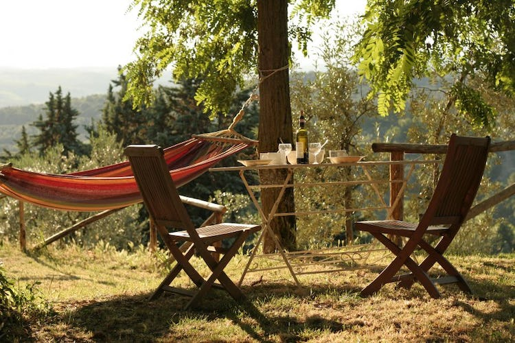 Ancora del Chianti B&B: Find a table or a hammock for some down time and a nap in Chianti