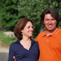 Laura & Filippo, owners of Ancora del Chianti B&B