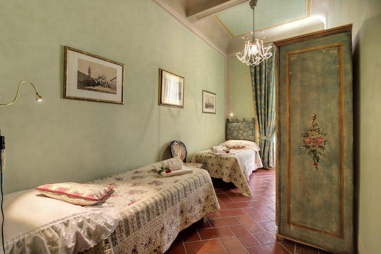 La camera con i letti gemelli