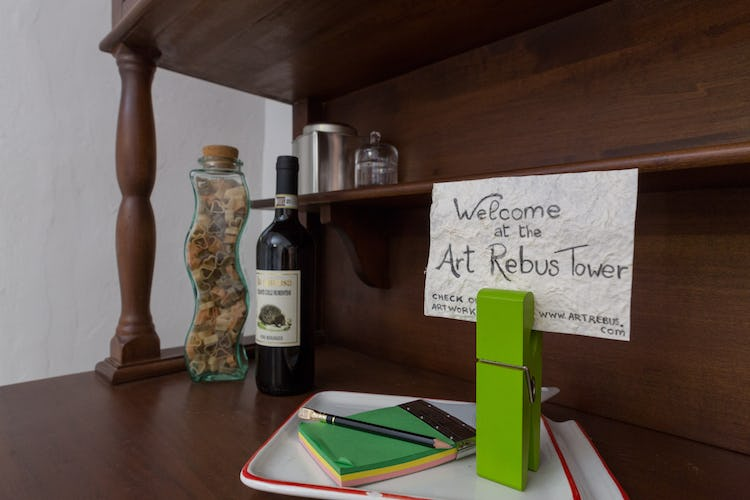 ART REBUS Tower Chianti historic vacation rental for adults
