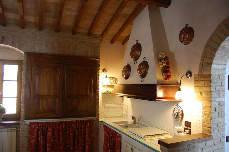 Side view of the Tuscan kitchen