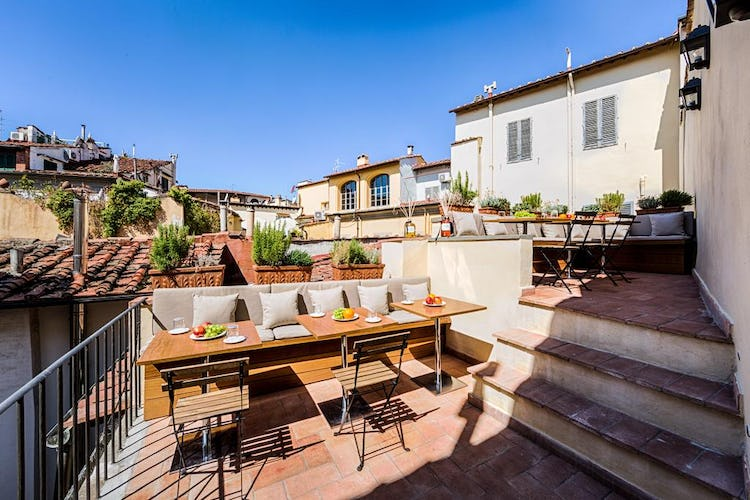 Palazzo Roselli Cecconi Hotel: Rooftop Terrace with city skyline view