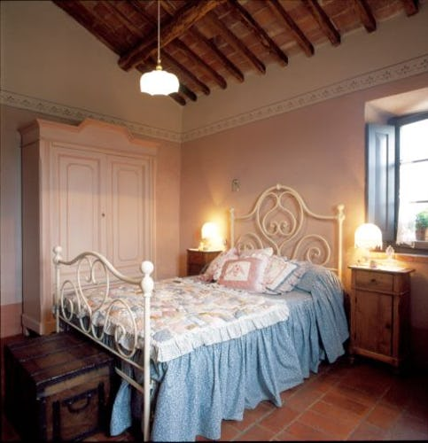 Each room has a window with a beautiful view of Chianti countryside