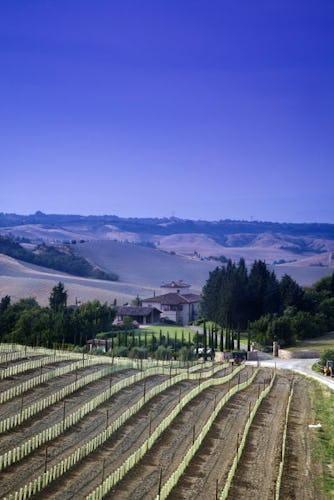 Borgo della Meliana: Gambassi Terme farmhouse, panorama