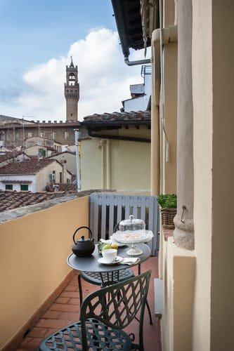 Borgo de Greci Vacation Apartments in Florence: Private terrace with a view
