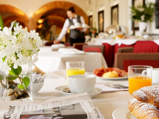 A large buffet breakfast is perfect for finding what you need to start your day right