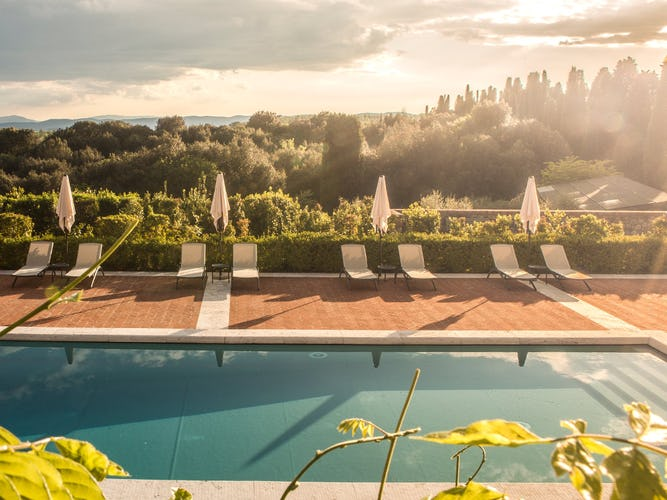Borgo Scopeto is surrounded by the vineyard covered hills of Chianti