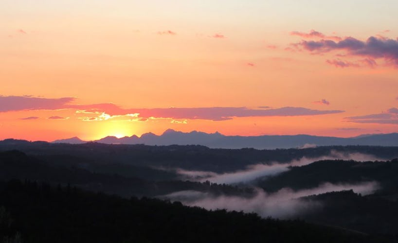 Sunsets and sunrises are spectacular in Chianti