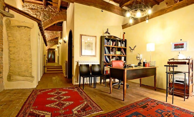 Reception area in Casa dei Tintori B&B