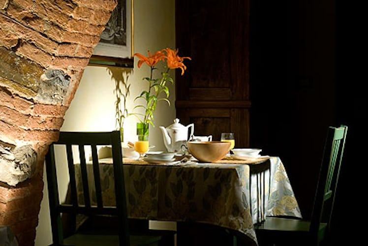 corner of breakfast room