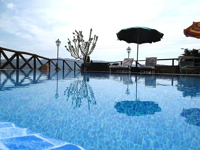 Panoramic pool with spectacular views at Casa Mezzuola