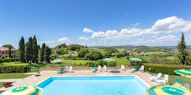 L'agriturismo I Monti offre una vista panoramica a 360 gradi