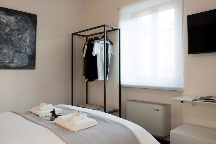 Each room has air conditioning and heating, with its own plasma TV.