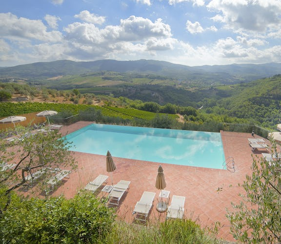 Castello Vicchiomaggio :: Panoramic views between Florence & Greve in Chianti