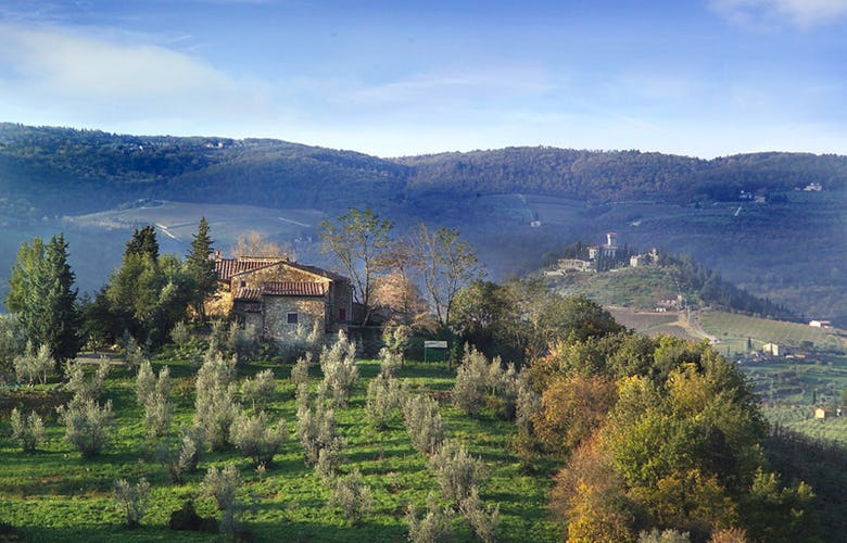 Typical Tuscan landscape in Chianti from Chianti Apartments