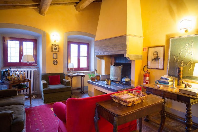 Cosy corners & comfortable furniture at Chianti Apartments in Greve