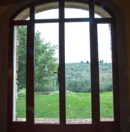 Spectacular views of Chianti from your self catering apartment