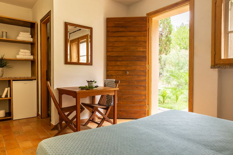 One of the comfortable bedrooms of the villa