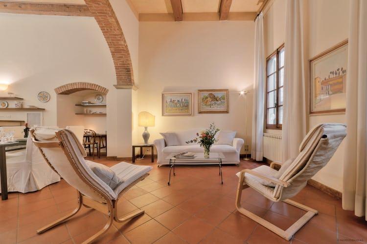 Il salotto dell'appartamento, per rilassarsi dopo una giornata trascorsa ad esplorare le meraviglie della città