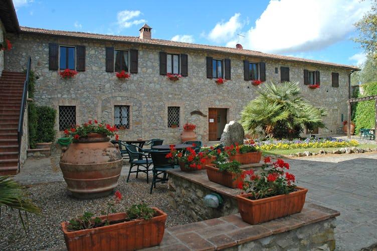 Fattoria di Catignano - Terrace and flowers