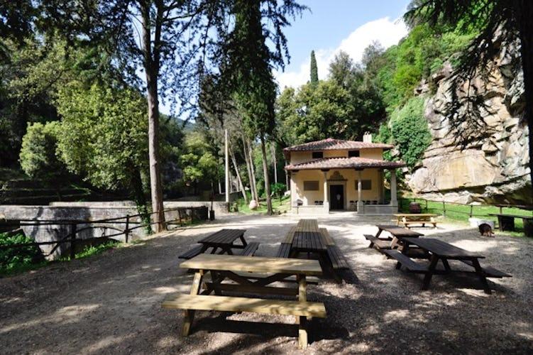 Fattoria di Maiano: l'area pic nic per pranzare all'aperto in mezzo alla natura