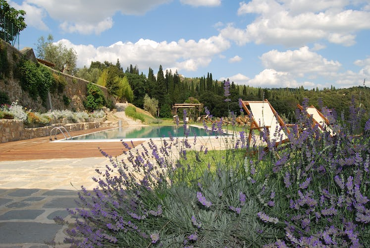 Fattoria di Maiano: pool is surrounded by the fragrances of Tuscany