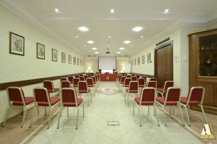 A confernece room, business center and equipment for meetings