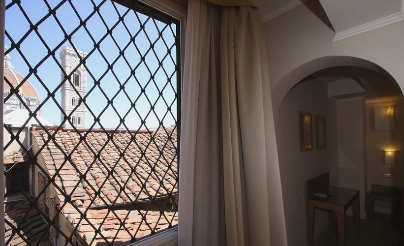 Be sure to ask for a room with a view at Hotel Perseo