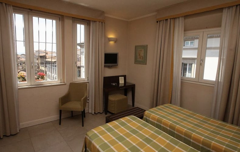 Each room has AC, WiFi and a Sat television
