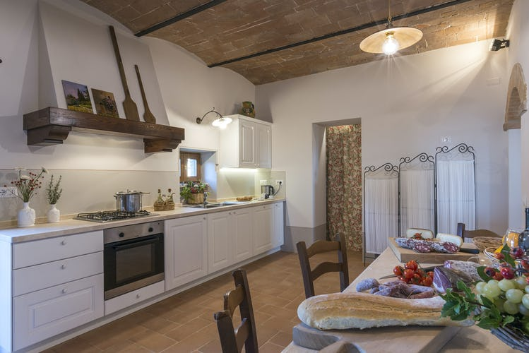 I Cipressini Villa Rental kitchen with stove, dishwasher and lots of space