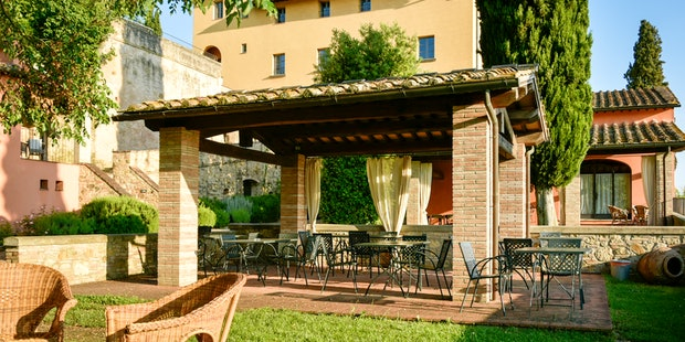 Panoramic views in every direction from the apartments at il Borghetto