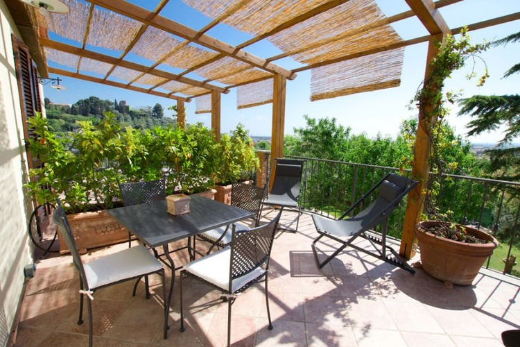 Panoramic terrace where you may enjoy breakfast or al fresco dinners