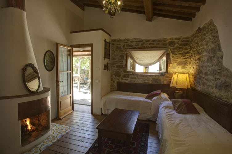 Easy access to the garden, internet and private parking near Cortona
