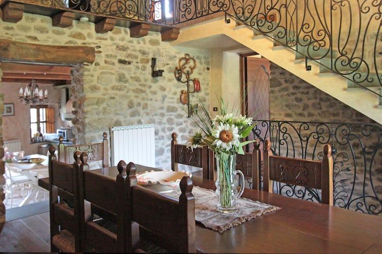 La Loggia Fiorita holiday villa rental and a formal dining room