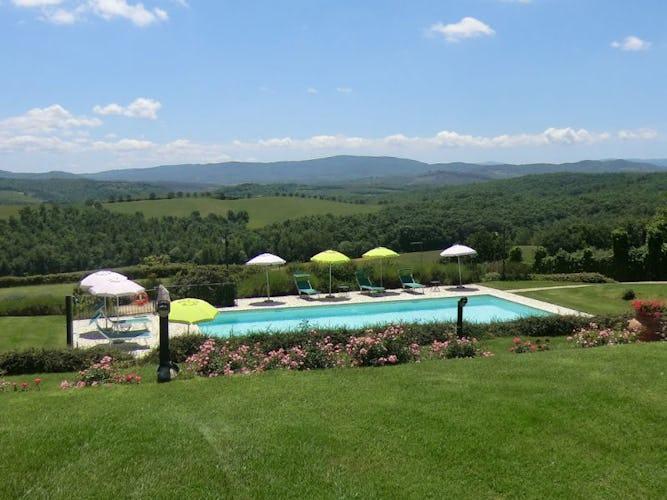 La vista panoramica dal giardino